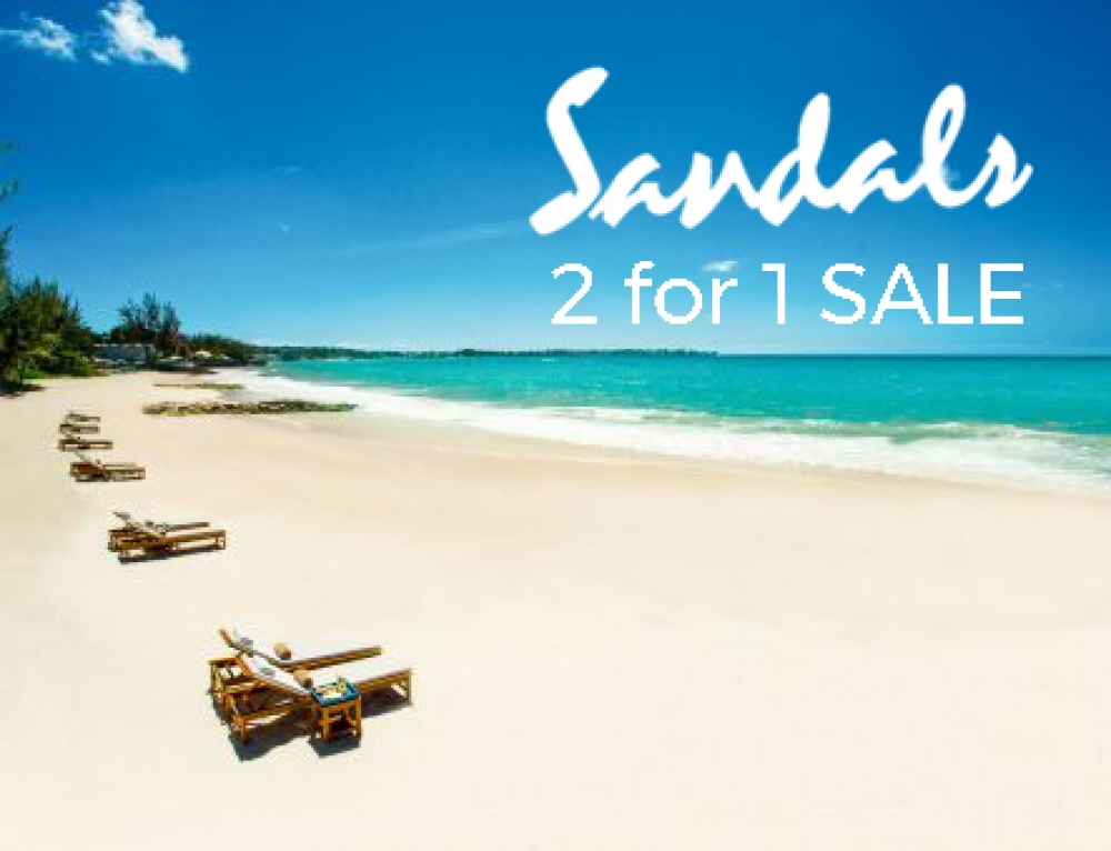 SANDALS 2 for 1 SALE has arrived at Oyster Travel Norwich