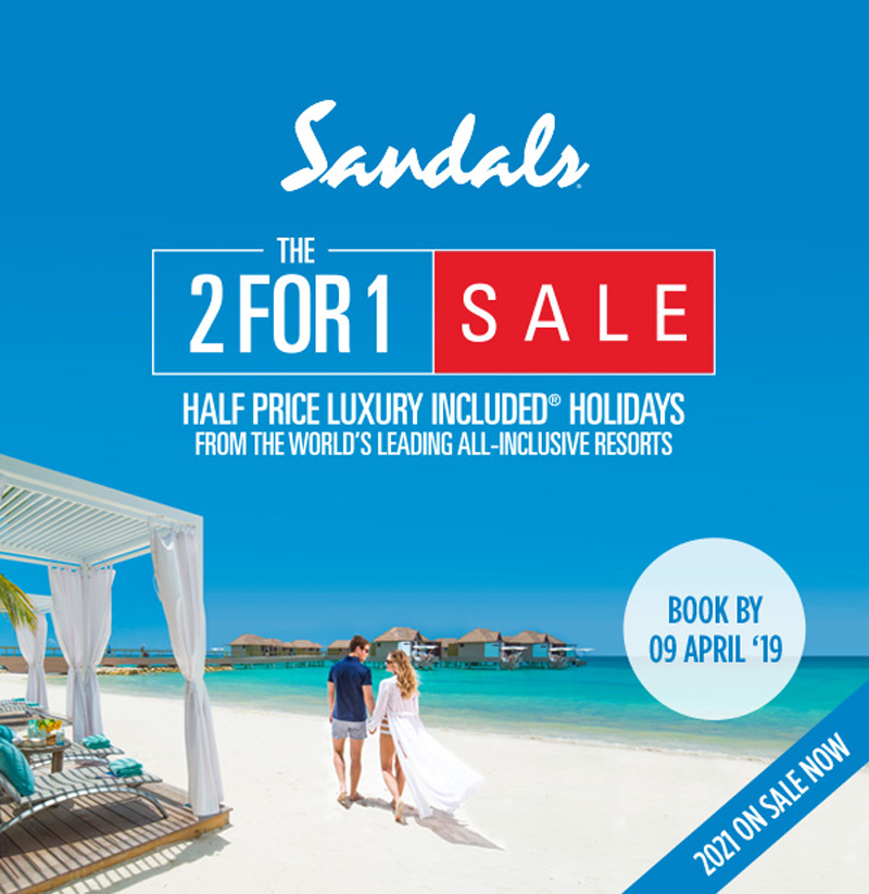 Oyster Vacation: 20190307_Sandals_2FOR1_Trade_1